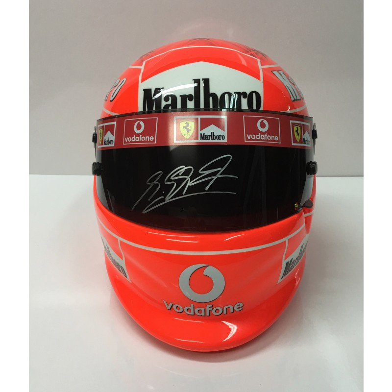Michael Schumacher 2008 Chinese GP Hand Signed Helmet - His 91st and last ever F1 Victory