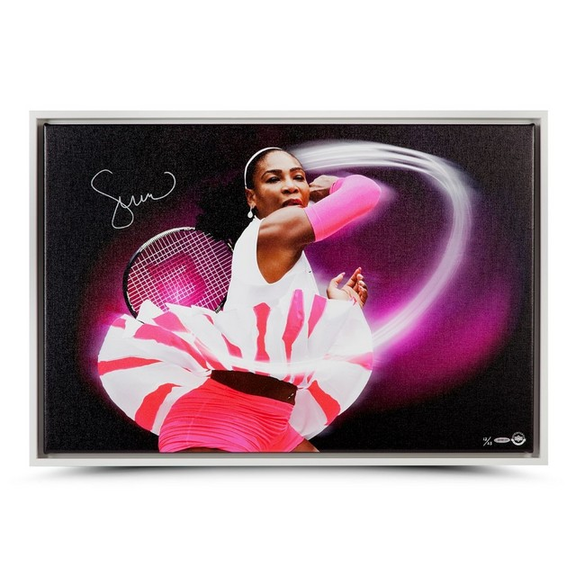 "Serena Williams Personally Signed ""Pioneer"" Canvas, Framed - HALF PRICE SPECIAL!"
