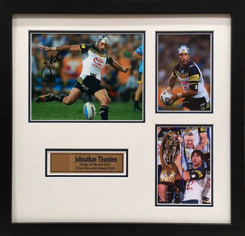 "Johnathan Thurston ""Career Tribute"", Personally Signed, Framed"