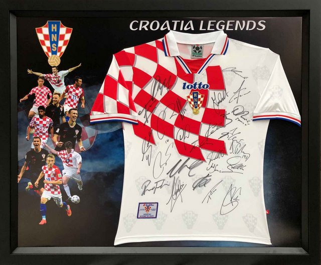"""Legends of Croatia"" Personally Signed Retro Jersey"
