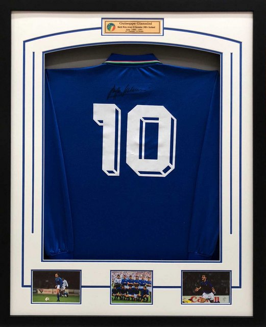 Giuseppe Giannini Match Worn Italy Jersey (v Scotland, 1988) - Goal Scoring Jersey, Hand Signed