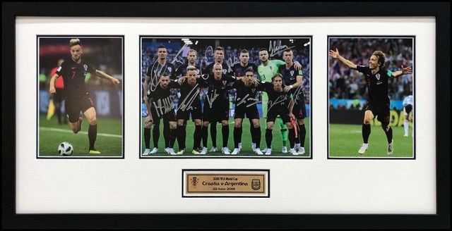 Croatia 2018 World Cup v Argentina (3-0 victory) Team-Signed Photo