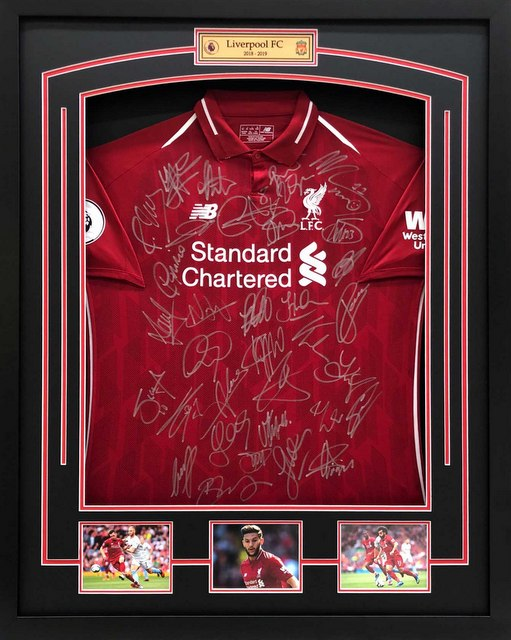 Liverpool FC 2018-2019 EPL Team Signed Jersey - EPL Framing - SPECIAL FOR LAST 1