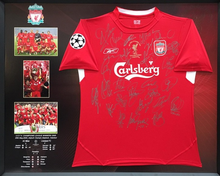 8194b2a8d Liverpool 2005 Champions League Winners Team-Signed Jersey