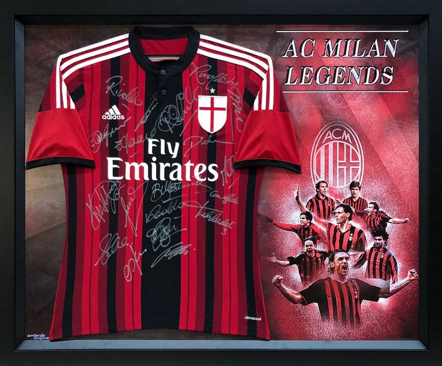 "AC Milan ""The Legends"", Hand-Signed Jersey - Ronaldinho, Rivaldo, Gullit"