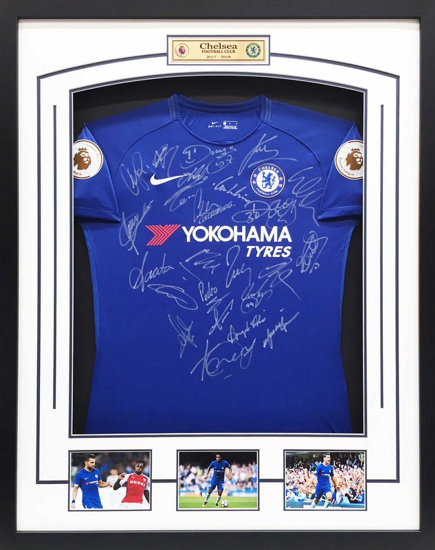 Chelsea FC 2017-2018 EPL Team and Manager Hand Signed Jersey