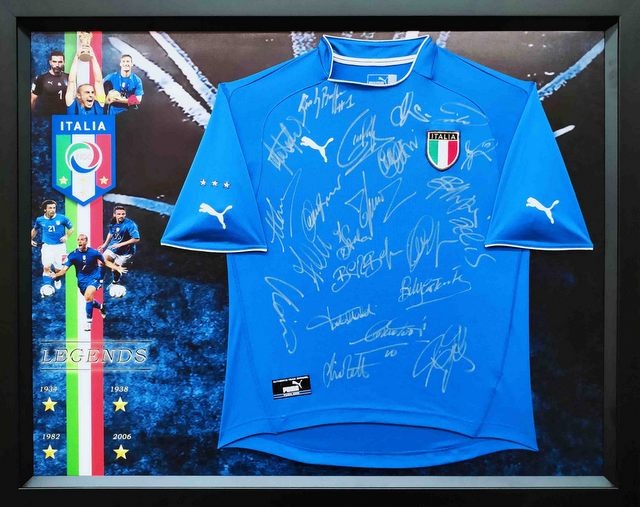 """Legends of Italy"" Personally Signed Jersey - Lippi, Zoff, Del Piero"