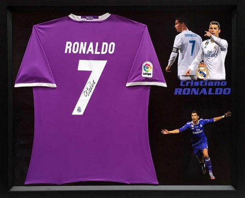 Cristiano Ronaldo Personally Signed Real Madrid Champions League Victory Jersey - SPECIAL!