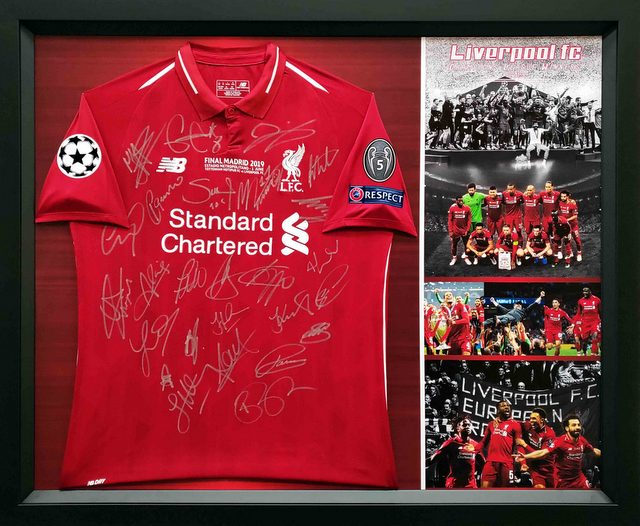 Liverpool 2019 Champions League Team Signed Commemorative Jersey