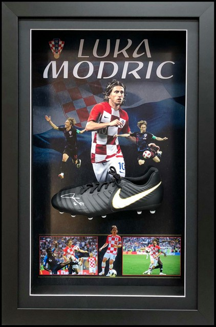 Luka Modric, Croatia, Personally Signed Boot