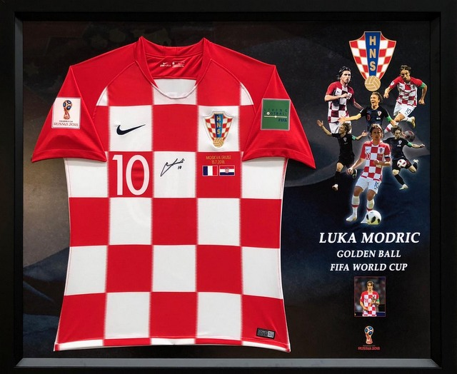 Luka Modric Personally Signed Croatia 2018 World Cup Jersey
