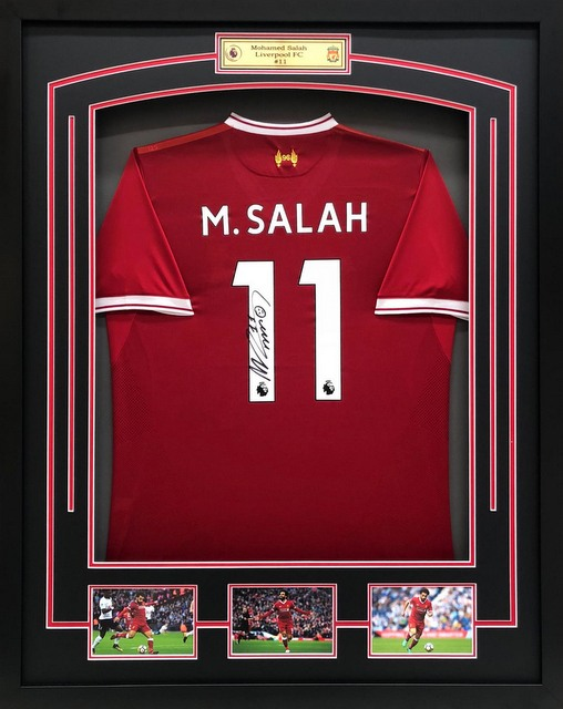 Mo Salah Personally Signed Liverpool Jersey V2