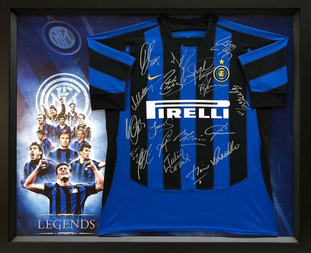 "Inter Milan ""The Legends"" Personally Signed Jersey - Matthaus, Zanetti"