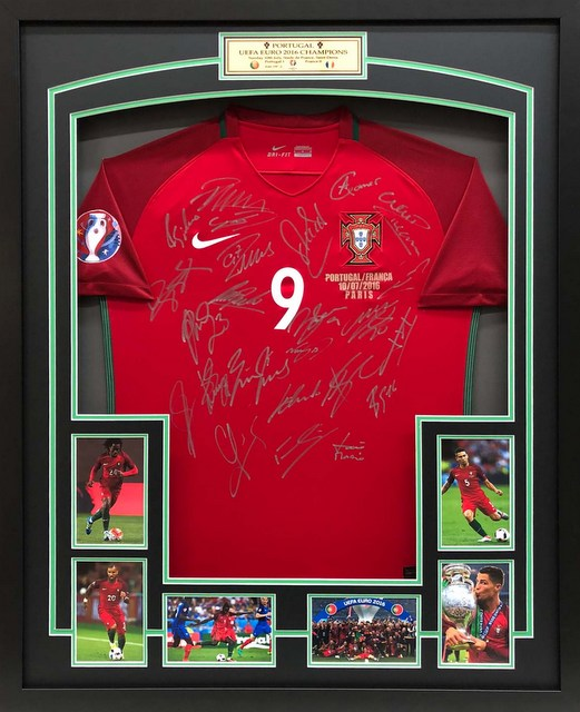 Portugal Team-Signed Jersey, European Champions 2016 - Ronaldo, Alves, Carvalho