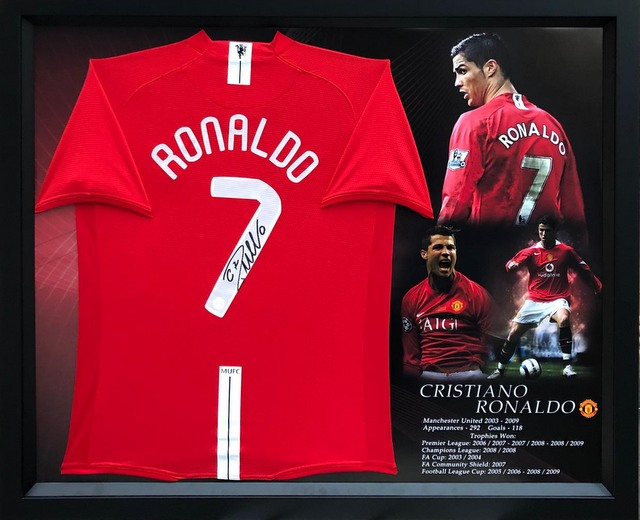 Cristiano Ronaldo Hand Signed Manchester United Jersey
