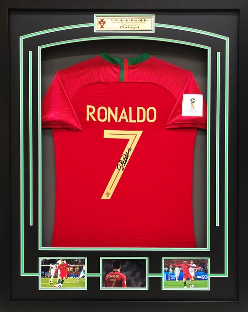 the best attitude 869f1 0d51f Cristiano Ronaldo Personally Signed Portugal Jersey, 2018 FIFA World Cup