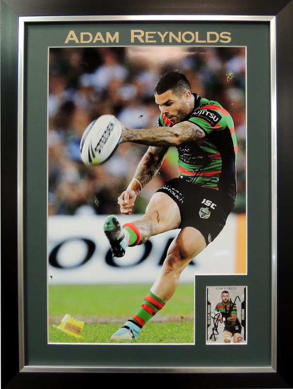 "Adam Reynolds South Sydney Rabbitohs Personally Signed ""Card Series"", Framed"