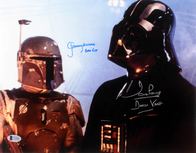 "David Prowse & Jeremy Bulloch Signed ""Star Wars: The Empire Strikes Back"" Photo Inscribed ""Darth Vader"" & ""Boba Fett"""