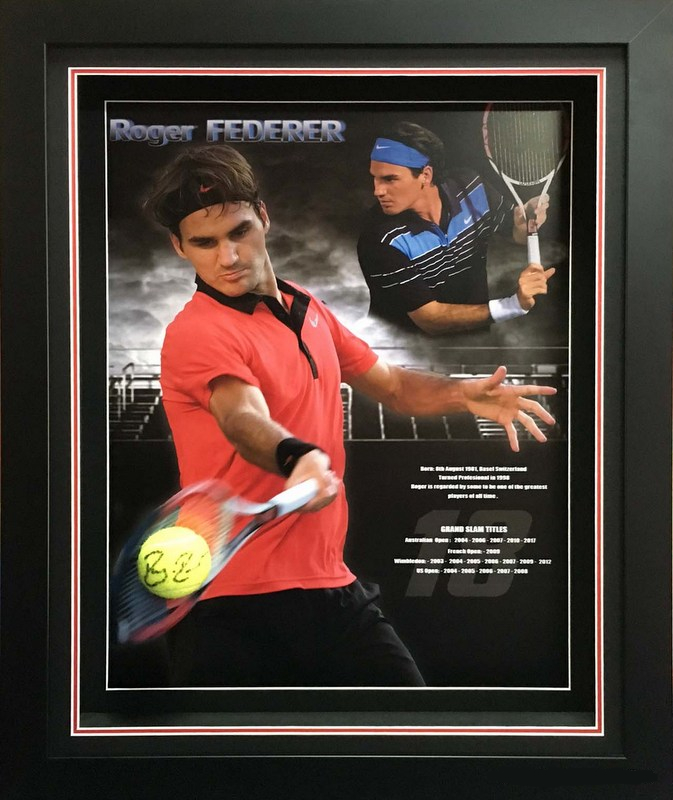 "Roger Federer ""Legends Series"" Personally Signed Career Tribute, Framed"