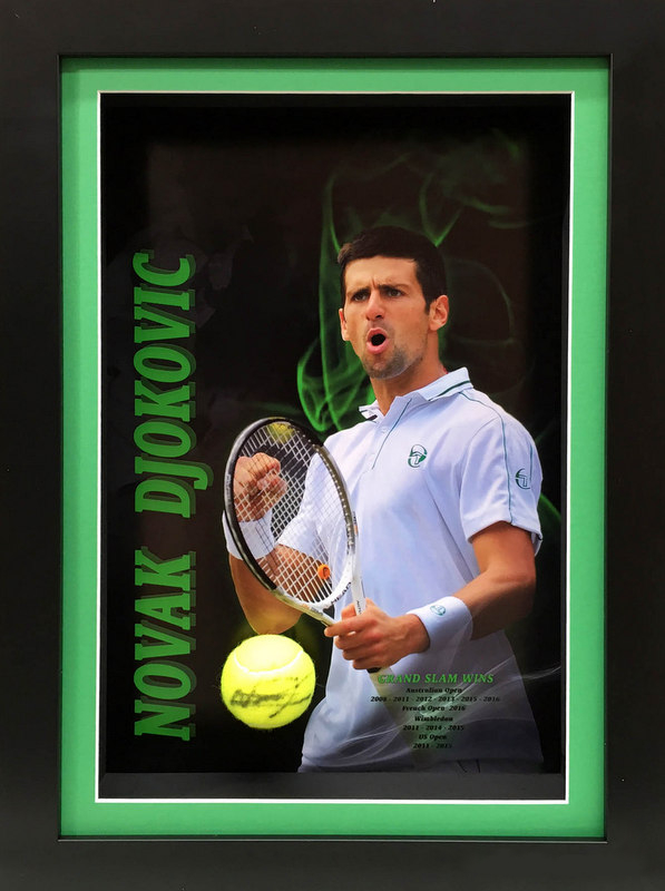 "Novak Djokovic ""Legends Series"" Personally Signed Career Tribute, Framed"
