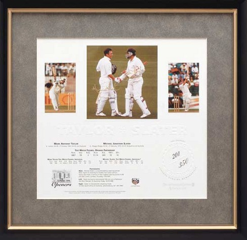 "Mark Taylor and Michael Slater - ""The Openers"" - Signed and Framed"