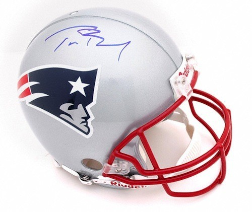 Tom Brady Personally Signed Proline Authentic Revolution Helmet, New England Patriots