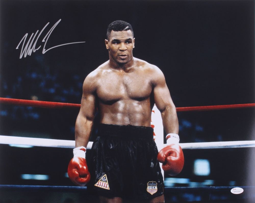 Mike Tyson Personally Signed HOF Lithograph, Framed