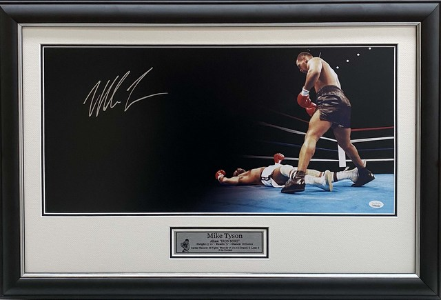 "Mike Tyson Personally Signed ""The Standover Man"", Framed"
