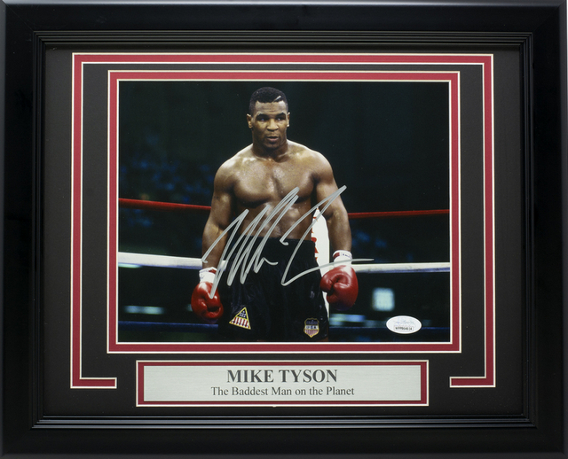 "Mike Tyson ""Baddest Man on the Planet"", Framed"
