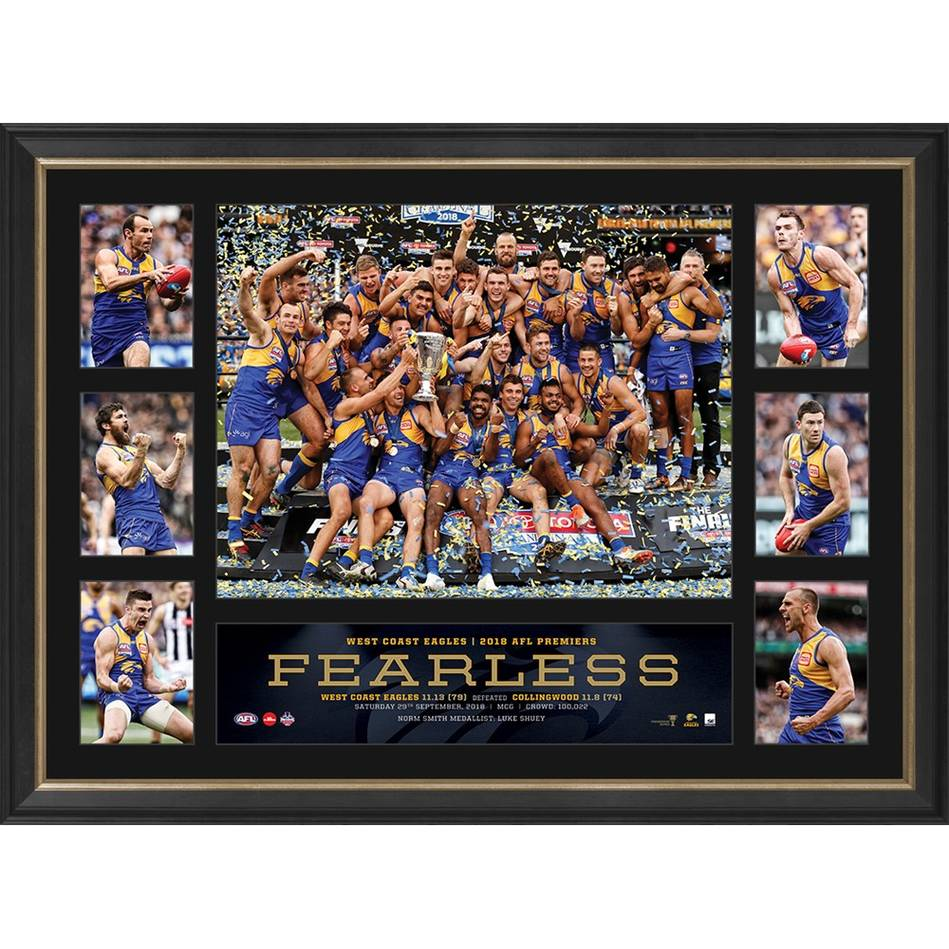 West Coast Eagles 2018 AFL Premiers Tribute Frame