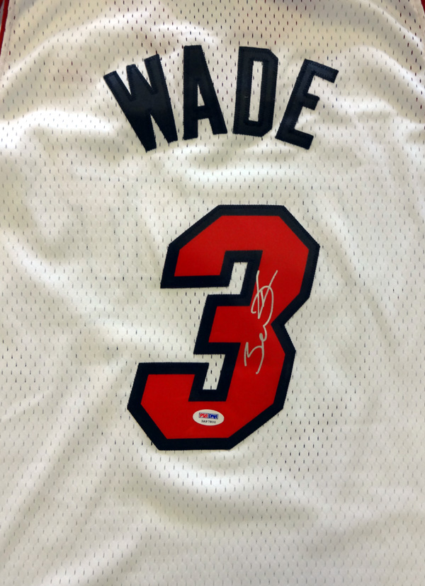 Dwyane Wade Personally Signed Miami Heat Jersey