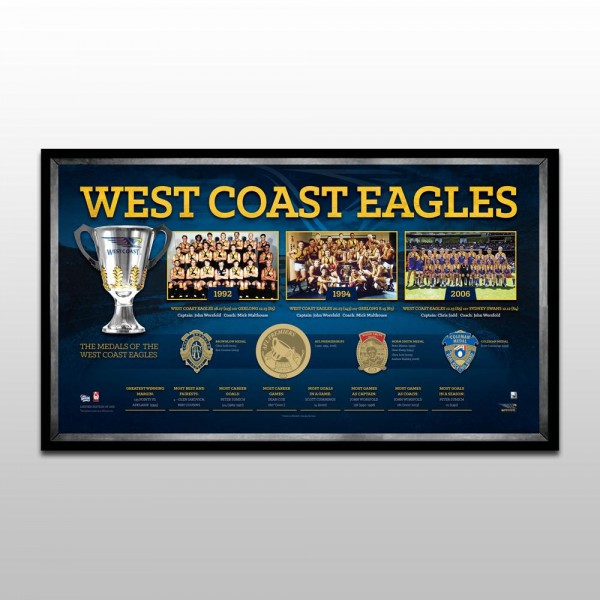 "West Coast Eagles ""The Historical Series"" Deluxe Sportsprint, Framed"