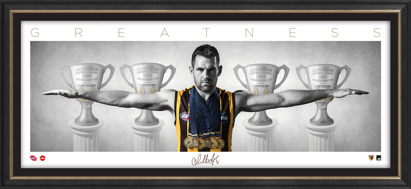 Luke Hodge – Auto Signature Series WINGS Framed