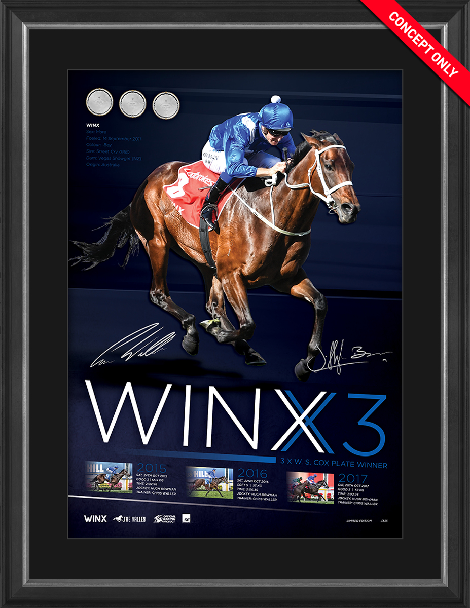 "Winx Dual-Signed ""Winx3"" Lithograph - Personally Signed by Bowman and Waller"