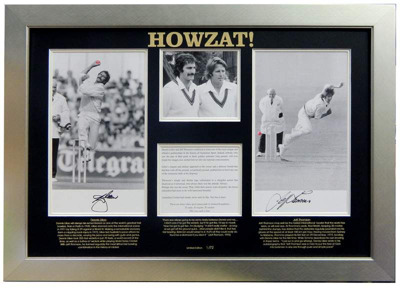 HOWZAT! Classic Single Signed by Jeff Thomson. From Thommo's Collection!