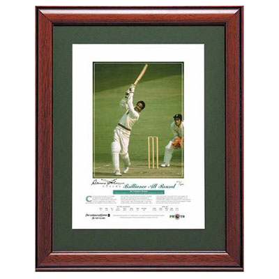 Sir Garfield Sobers signed photo-classic 'Brilliance All-Round'