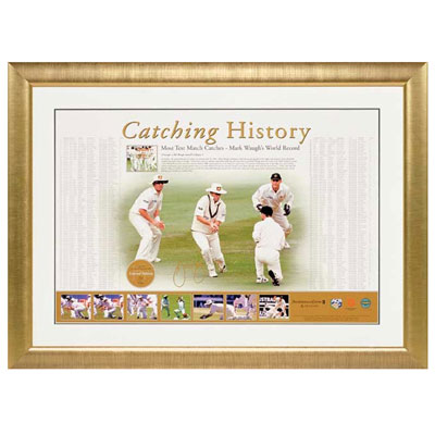 Mark Waugh signed 'Catching History'