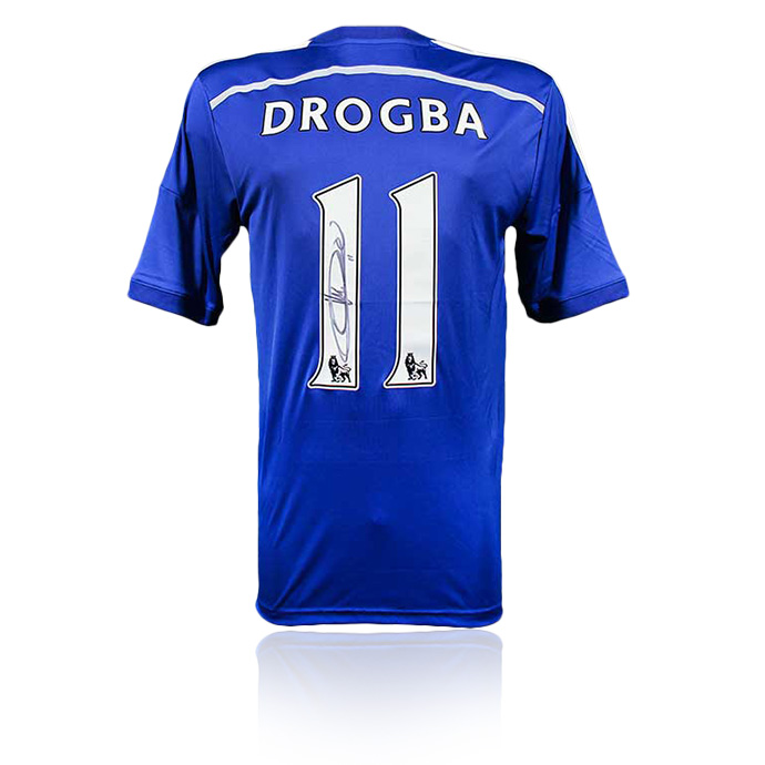 Didier Drogba Personally Signed Chelsea Jersey