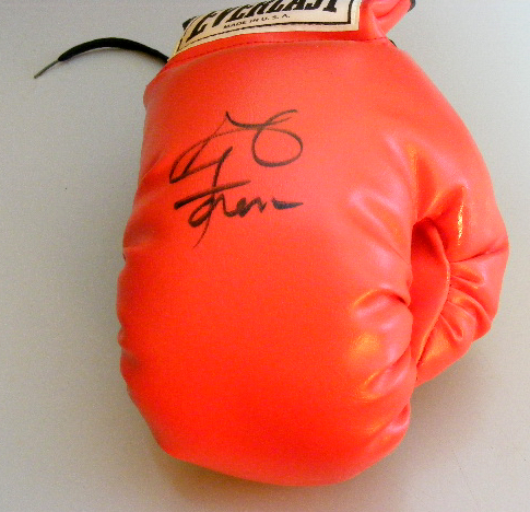 George Foreman Signed Boxing Glove - What a Boxer! What an Entrepreneur!