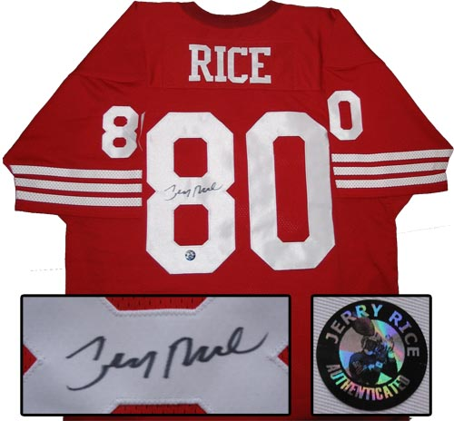 Jerry Rice signed 49ers jersey