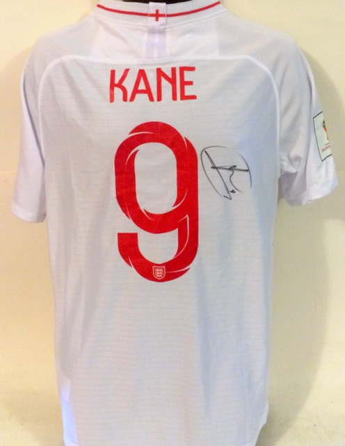 Harry Kane England 2018 World Cup Personally Signed Jersey