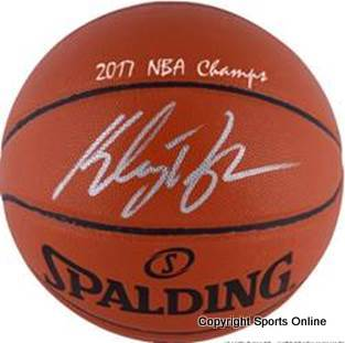 Klay Thompson, Golden State Warriors 2017 NBA Champions Signed & Inscribed Basketball, Fanatics Ltd Ed