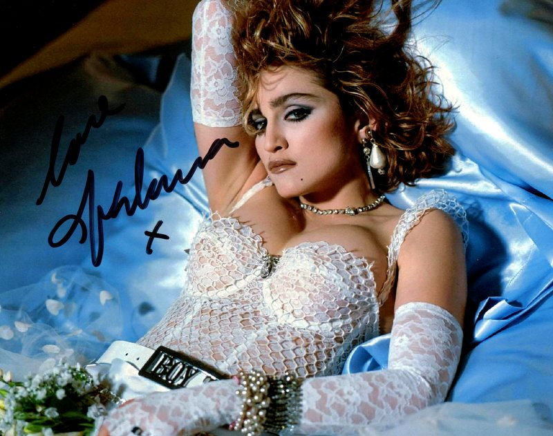 Madonna Hand Signed and Inscribed Photo