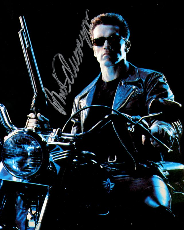 Arnold Schwarzenegger Hand Signed Photo