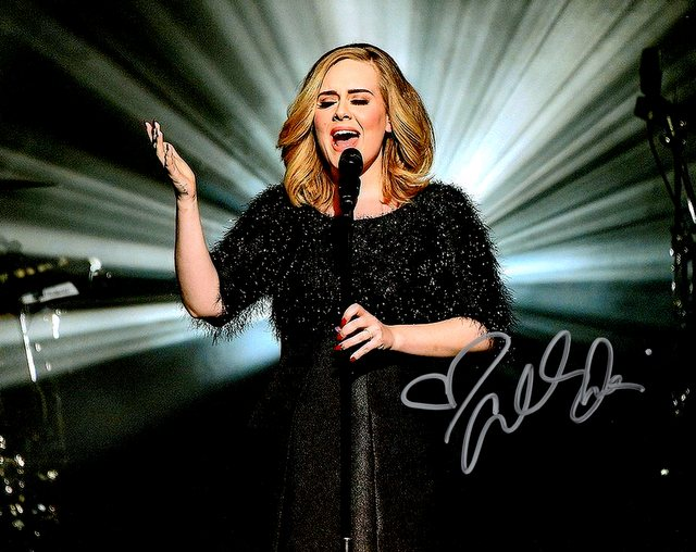 Adele Personally Signed Photo
