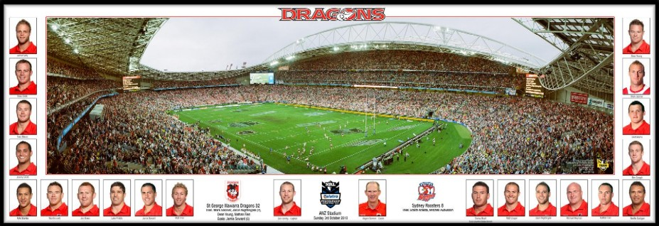2010 St George Illawarra Dragons Premiership panoramic print