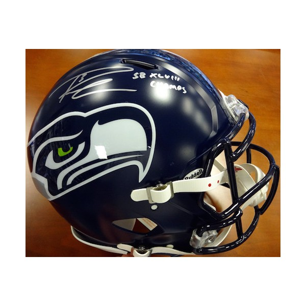 Russell Wilson Hand Signed Authentic Speed Helmet