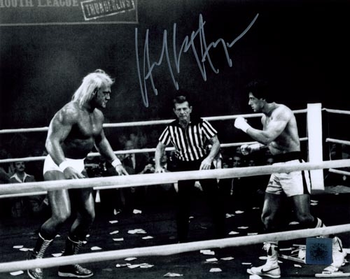 Hulk Hogan signed 'Rocky' photograph